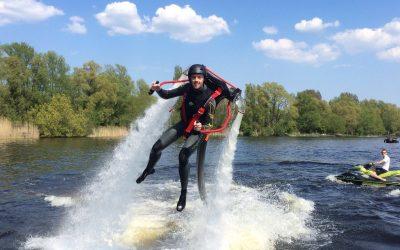 Flyboarden, hoverboarden of vliegen met een jetpack