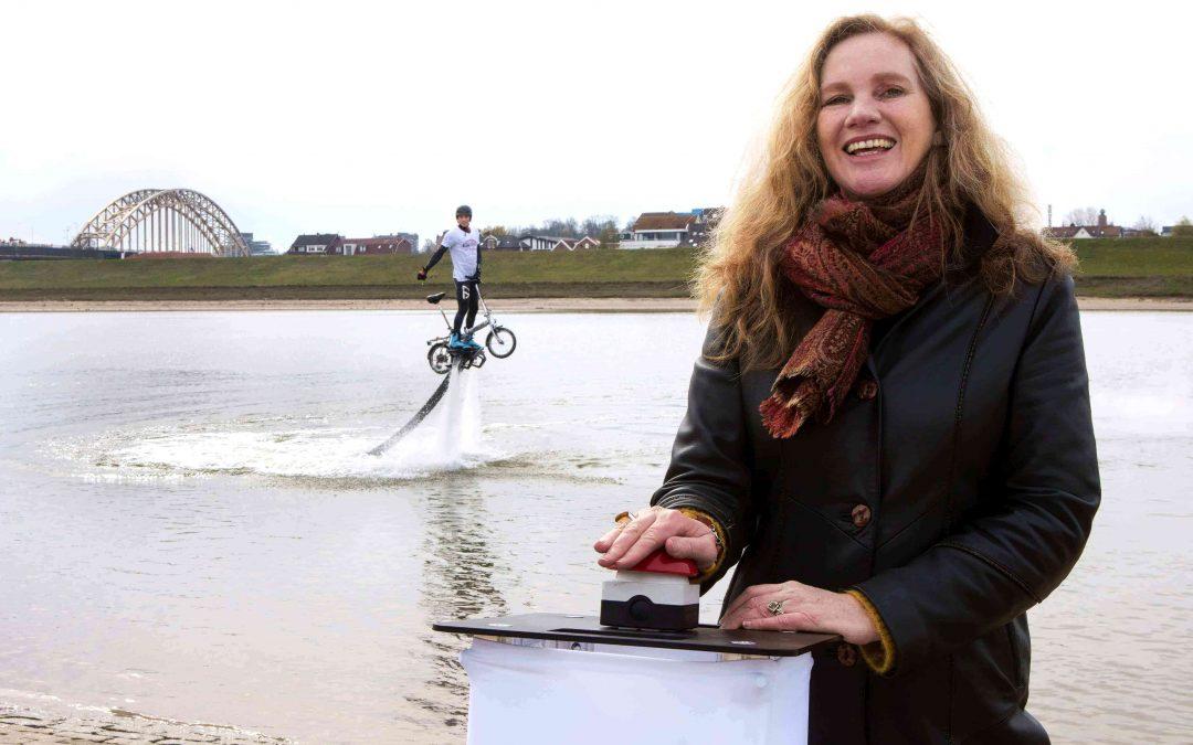 Flyboarden met fiets